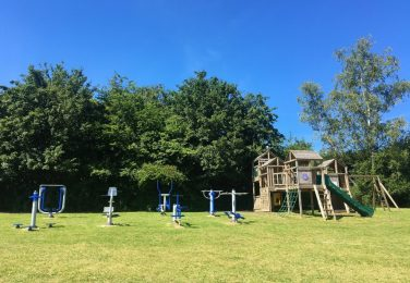 The Lea Primary School and Nursery exercise area and climbing frame on KS2 field