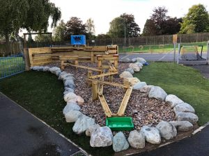 The Lea Primary School and Nursery water play area in Early Years playground
