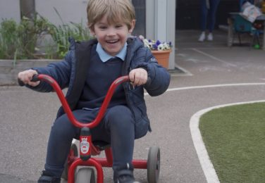 The Lea Nursery riding tricycle