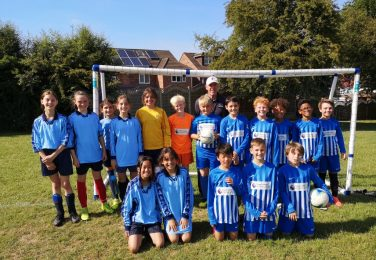 The Lea Primary Girls and Boys Football Team